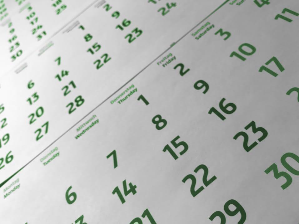 Abholservice Kalender